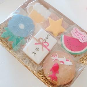 ☆夏のご挨拶に☆ 【アイシングクッキー】夏ギフトセット