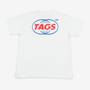TAGS™️ CC Pocket Tee White Lsize