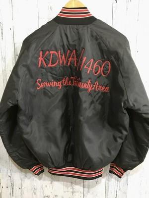 アメリカ製 チェーン刺繍 ナイロンジャケット KDWA ラジオ局
