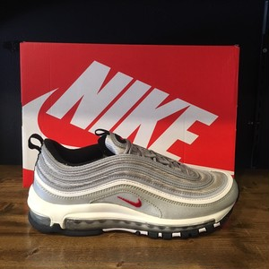 【NIKE】AIR MAX 97 OG QS METALLIC SILVER/VARSITY RED (884421-001)