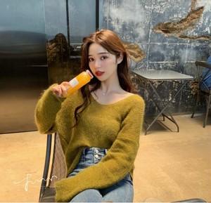 2019年 新作 秋 レディース ファッション 上着 薄手 ニット セーター ブラウス シャツ ゆったり カジュアル 7色 S M L XL