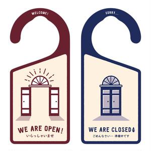 OPEN(営業中)/CLOSED(準備中) 洋風[1186] 【全国送料無料】 ドアノブ ドアプレート メッセージプレート