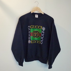 "GUCCI Bootleg 1990's Sweat SizeS ""Navy"""