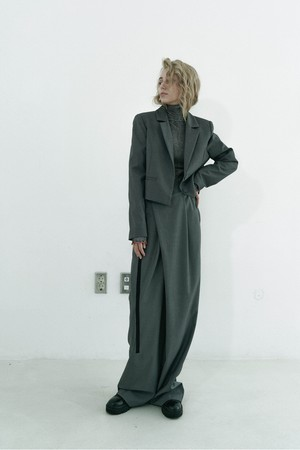 Wide wrap pants / Gray