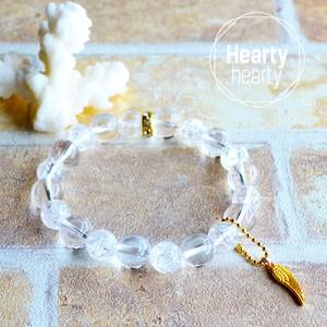 【SPARKLE Gold】パワーストーン ブレスレット レディース 天然石 水晶 クラック水晶[送料無料]
