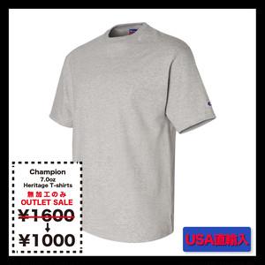 <<無加工のみ>> Champion チャンピオン 7.0oz ヘリテージジャージーTシャツ ★在庫限りSALE (品番T105)