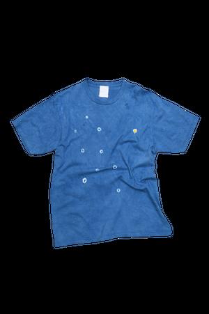 NO.668 藍染デザインTシャツ【Lサイズ】