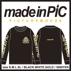 PICTURE MOUSE■long sleeve(BLACK)