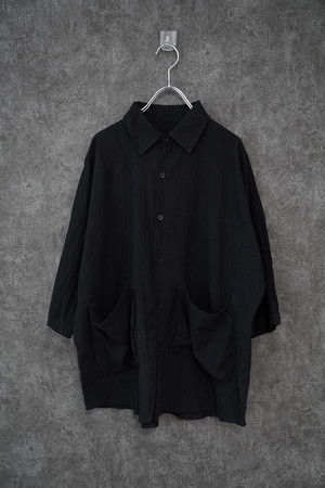 【再入荷】℃℃℃ linen jk BLACK