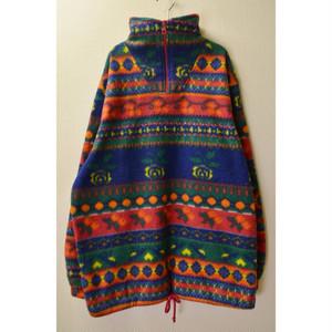 flower fleece pullover