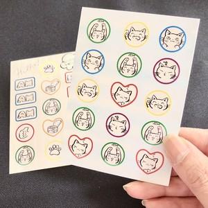 【手帳にも♪】ねこシール2種セット