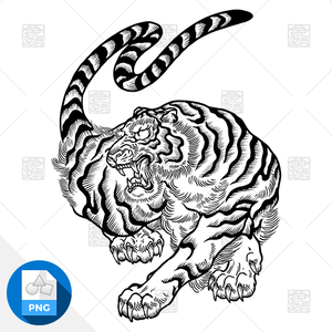 【png画像素材】虎5 Sサイズ  横380px × 縦500px