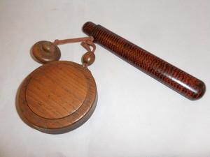 煙草とパイプ入れ tobacco&pipe portable pouch( wood & lacquer )(No1)