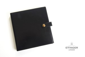 エッティンガー ETTINGER クオバディス用ブライドルレザー手帳カバー ブラック