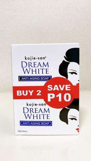 フィリピン美白石鹸:kojie san DREAM WHITEアンチエイジング(65g×2個)