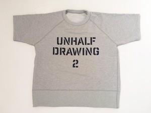 UNHALFDRAWING / SHORT SLEEVE SWEAT(Stencil LOGO)