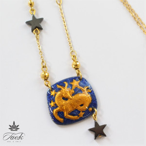 【ラッキーカラー黒】Wonder Box Zodiac 山羊座 ネックレス