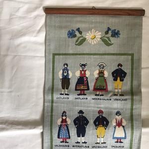 スウェーデンの民族衣装の壁掛け