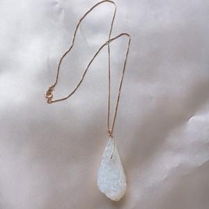 semiprecious stone necklace(14kgf)40cm