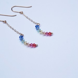 Double Rainbow pierced earring (Small)