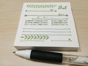 付箋タイプ電話伝言メモ【リーフ】