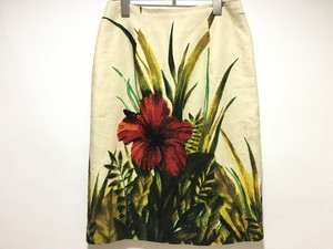 """hibiscus"" cotton beads skirt"