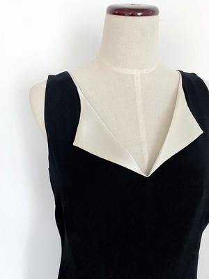 VINTAGE V-NECK DRESS  GV-020
