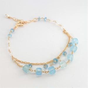 【heartwarming bracelet 】 Aquamarine(アクアマリン)