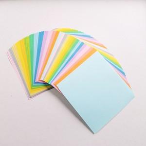 バラ折り色上質紙 10 x 10㎝ 14色 5セット