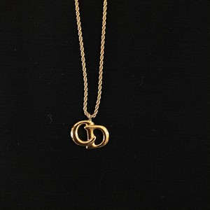 "DIOR ""Logo"" Gold-Color Necklace"
