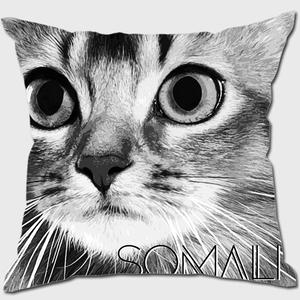 ソマリ 【IMPACT -shirokuro- 猫 クッション】