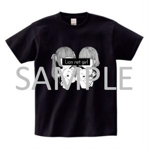 ライオンと少女Tシャツ