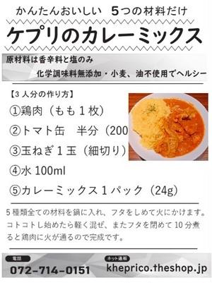 【徳用】かんたん☆本格スパイスカレーミックス(15人分)無添加 小麦粉・油不使用 グルテンフリー 化学調味料不使用