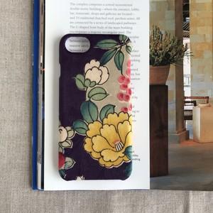 【KIMONO】アンティーク着物のiPhoneケース(紫に黄椿)