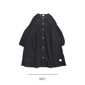 NHT / パフギャザーワンピース ブラック
