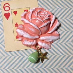475 大きな薔薇の帯飾り(ローズピンク)