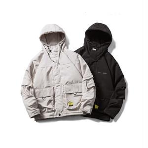 【UNISEX】アウトドア マウンテンパーカー ジャケット ジップアップ フード付き【2colors】