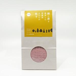 絹と炭のルームソックス ピンク