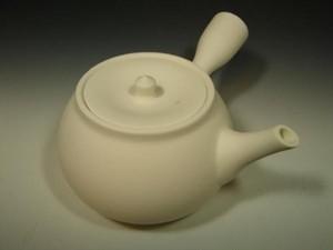 煎茶道具 ボーフラ 横手 白 保富良 湯沸し 白泥 素焼 新品