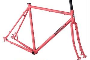 在庫限り*SURLY* straggler frame&fork set (salmon c red)