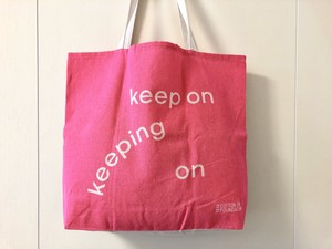 【keep on / keeping on】tote bag / エコバッグ