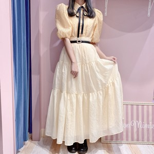 【 Sister Jane 】Lemon Tea Tiered Maxi Skirt