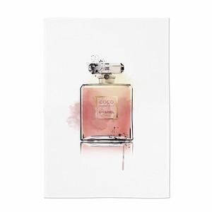 perfume illustration fabric poster I 3size / シャネル ブランド イラスト ファブリックポスター 韓国