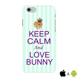 【KEEP CALM and LOVE BUNNY】グリーン