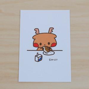 ポストカード_パンとミルク