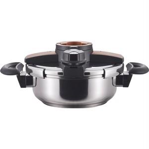 ボルドー両手圧力鍋3Lブラウン 23100(IH調理器対応)