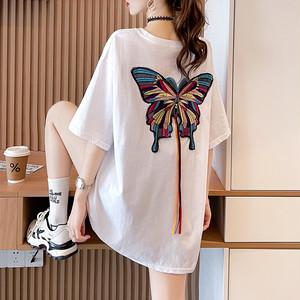 【トップス】ファッション半袖ラウンドネックプルオーバーTシャツ47497033