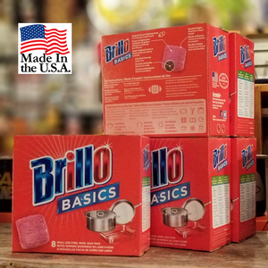 Brillo BASICS アメリカ製 洗剤付きタワシ
