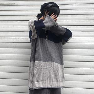 【トップス】韓国系配色ラウンドネック原宿セーター24513047
