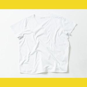 チャビー特有お腹が出ていることをカバーしてくれるTシャツ  WHITE